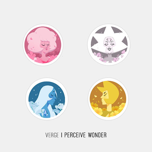 Steven Universe Daimonds Stickers Pack