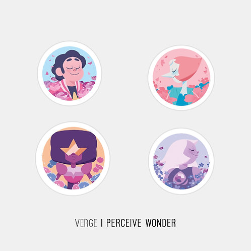 Steven Universe Gems Stickers Pack