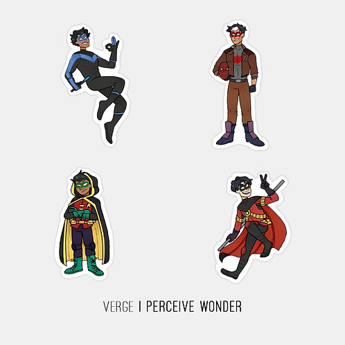 DC Robins Sticker Pack