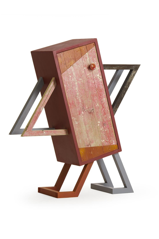 Mobile comodino in legno di riciclo della falegnameria umbra Laquercia21