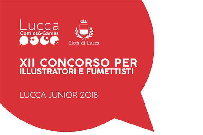 Manifesto del tredicesimo concorso per illustratori e fumettisti del Lucca comic 2018