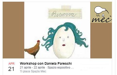 Laboratori di Illustrazione Genova aprile 2018, daniela pareschi e spazio mec workshop arte