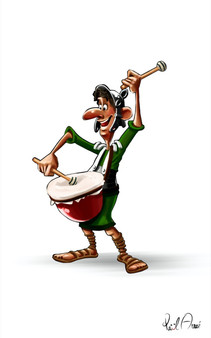 Romano con tambór