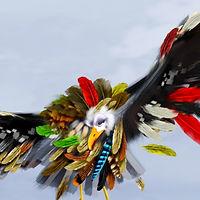 """Dibujo del pájaro protagonista de """"El silencio se marcho"""", de Ed. Corocotta"""