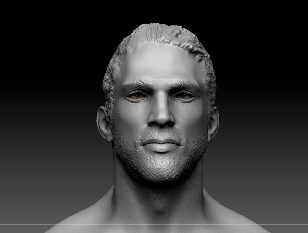 Estudio de anatomia masculina.