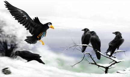 Doble página-Cuervos