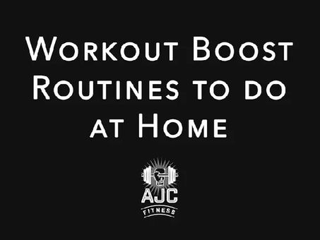 Easy to follow workouts at home