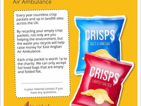 Save your foil lined crisp packets !