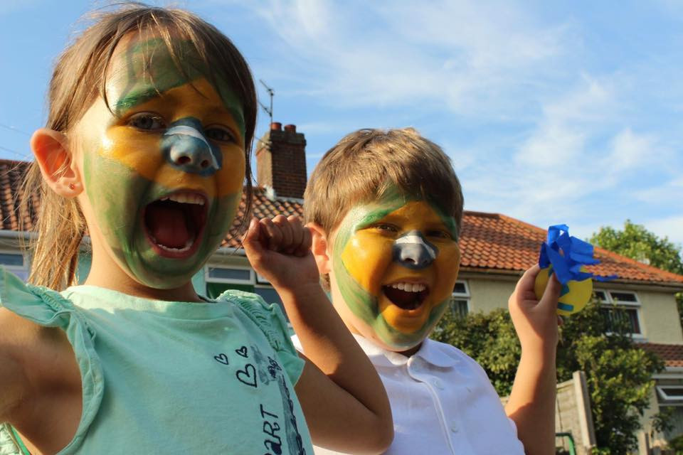 Face painting in Brazil