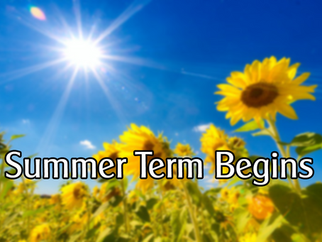 Welcome back to our Summer Term...