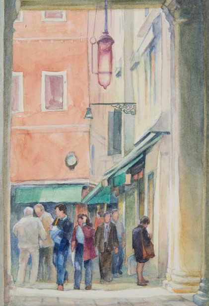 Mercury Gate-Venice (Detail 2), Watercol