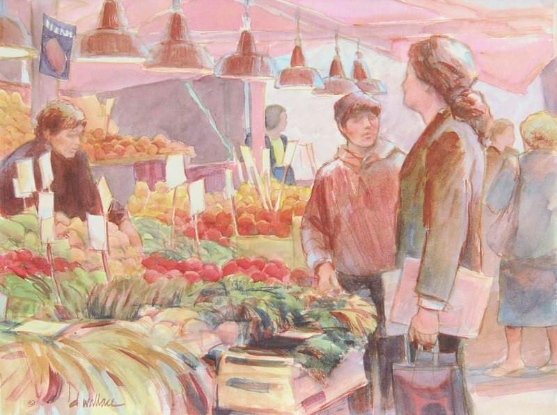 Venice Produce Market (with Self Portrai
