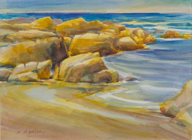 Noon at Asilomar Beach-Pacific Grove Cal