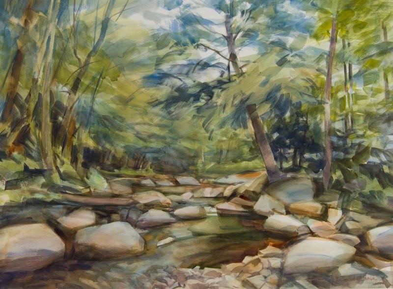 Secret Pond, Watercolor, 22x30.jpg