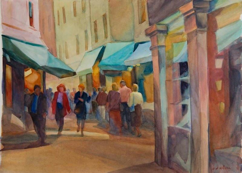 Blue Canopies, Watercolor, 15x22.jpg