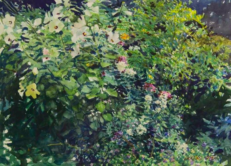 Leona's Garden, Watercolor, 22x30.jpg