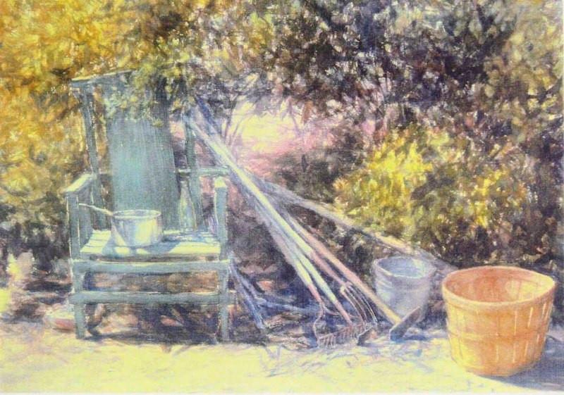 Ben Clark's Chair, Watercolor, 22x30.jpg