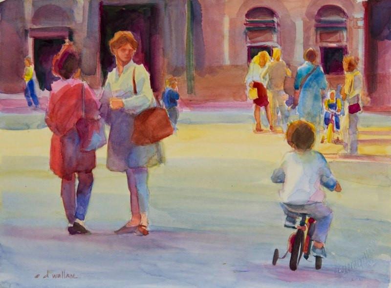 Casual Conversations I, Watercolor, 11x1