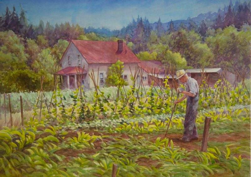 Sierra Homestead, Watercolor, 29x42.jpg