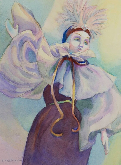 Souvenir of Venice-Plum, Watercolor, 11x