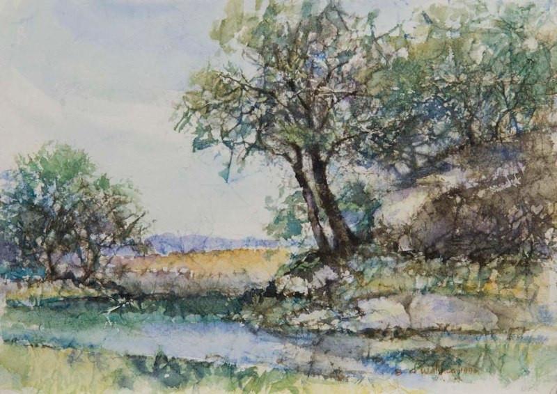 The Orestimba-Coe Park, Watercolor, 11x1