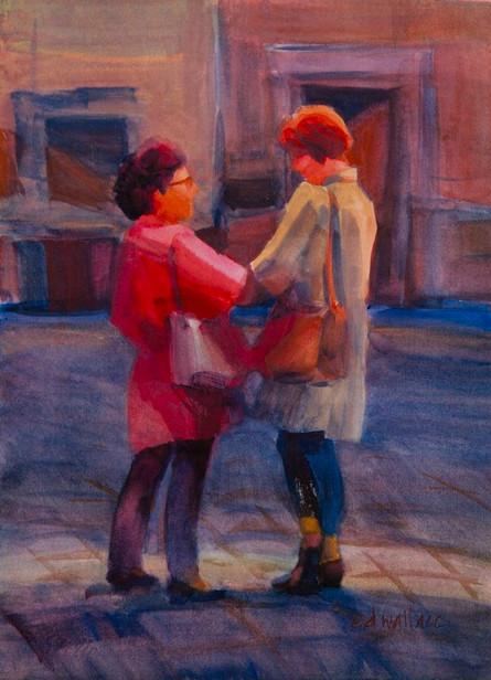 Friends, Watercolor, 11x15.jpg