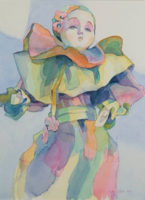 Souvenir of Venice-Pastel, Watercolor, 1