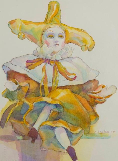 Souvenir of Venice-Gold, Watercolor, 11x