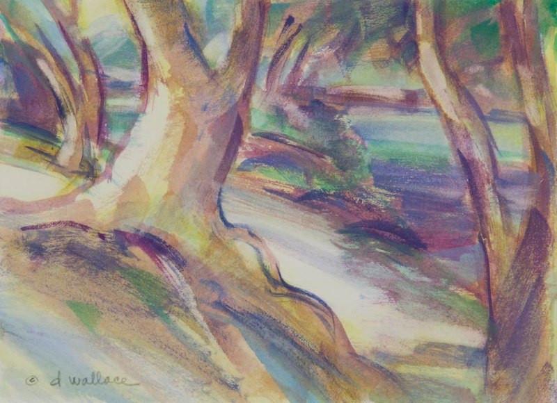Fall Study-Uvas Creek, Watercolor, 5.5x7