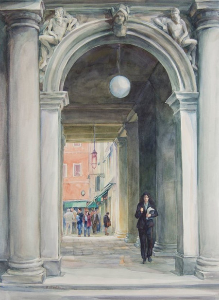 Mercury Gate-Venice, Watercolor, 22x30.j