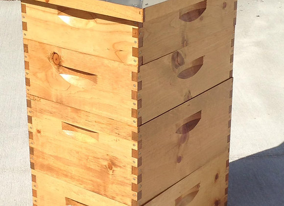 Langstroth 10 Frame Beehive - Stain and Polyurethane Finish