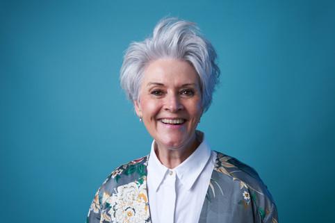 Portræt af Anne Karin Broberg. Jægerspris, Danmark.
