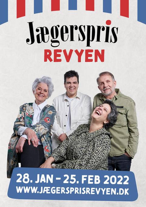 Kampagneplakat til Jægerspris Revyen. Jægerspris, Danmark. 2021.