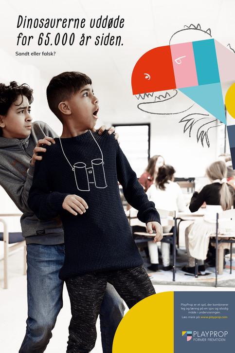 Reklameplakat til PlayProp. København, Danmark. 2018.