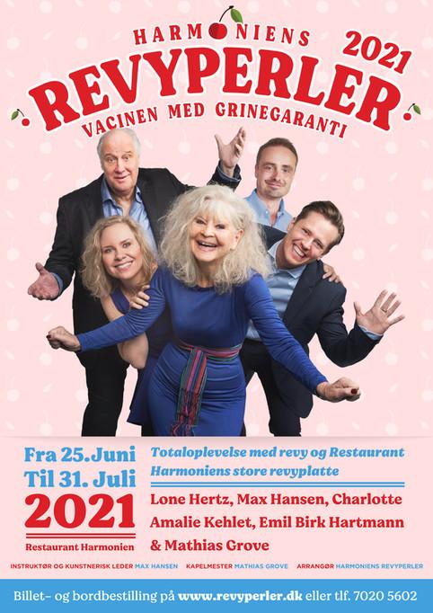 Kampagneplakat Revyperler. København, Danmark. 2020.