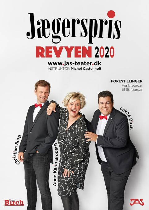 Reklameplakat til Teater Birch. Jægerspris, Danmark. 2019.