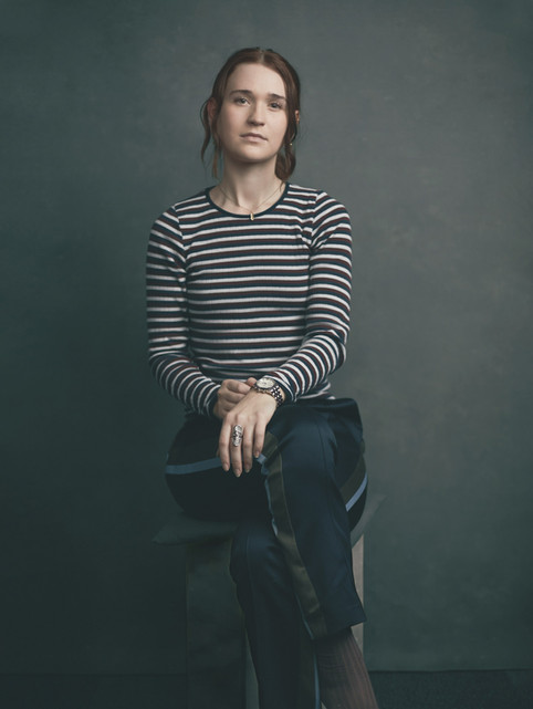 """Portræt af Julie. """"I Frit Fald"""", bogprojekt. Valby, Danmark."""