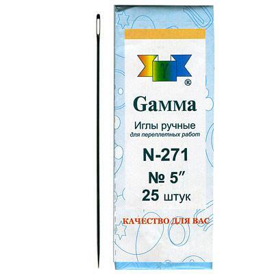 Иглы швейные ручные Гамма 271-№5 1шт