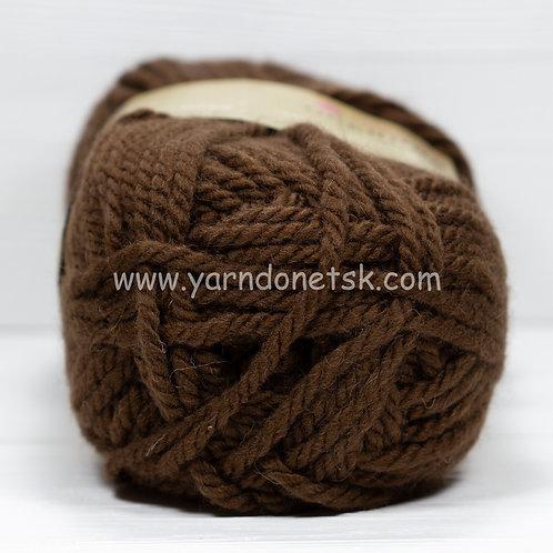 Осенняя св коричневый 416 шерсть 25% акрил 75%