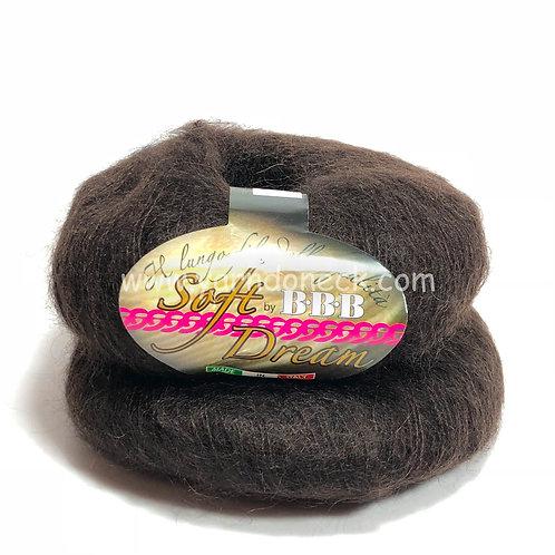 Soft Dream 53 шоколад мохер 75% шелк 25%