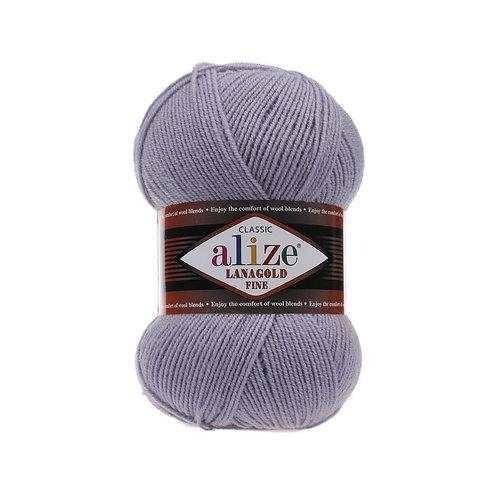 Lanagold fine 200 св серый шерсть 49% акрил 51%