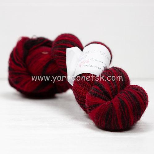 Kauni 8/1 black red