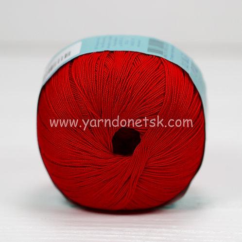 Цветное кружево красный 06 хлопок 100%