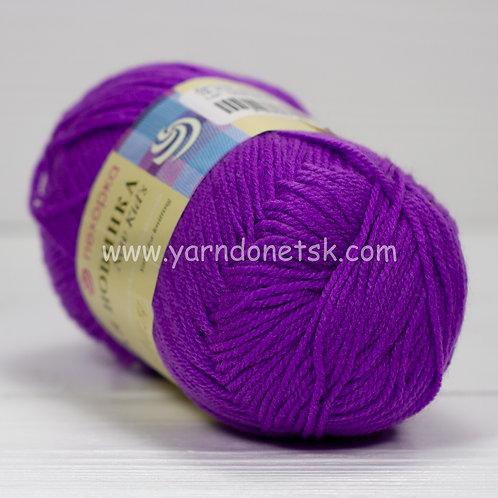 Детская новинка фиолетовый 78 акрил 100%