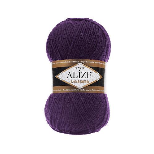 Lanagold 388 пурпурный шерсть 49% акрил 51%