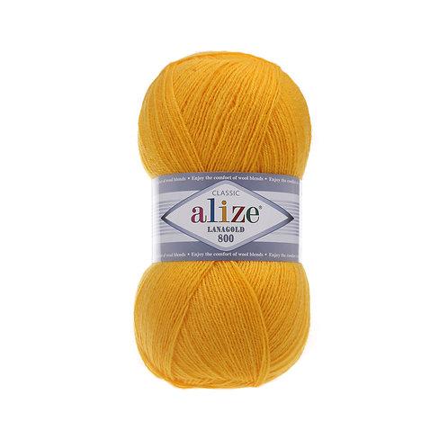 Lanagold 800 216 желтый шерсть 49% акрил 51%