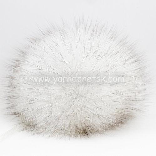 Помпон песец цвет белый 13-15см