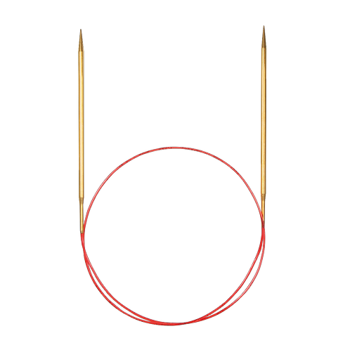 Спицы Addi 100см золото