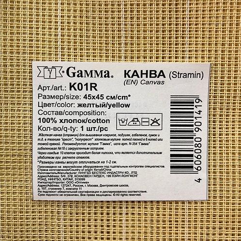 Канва Гамма K01R Stramin 45х45см