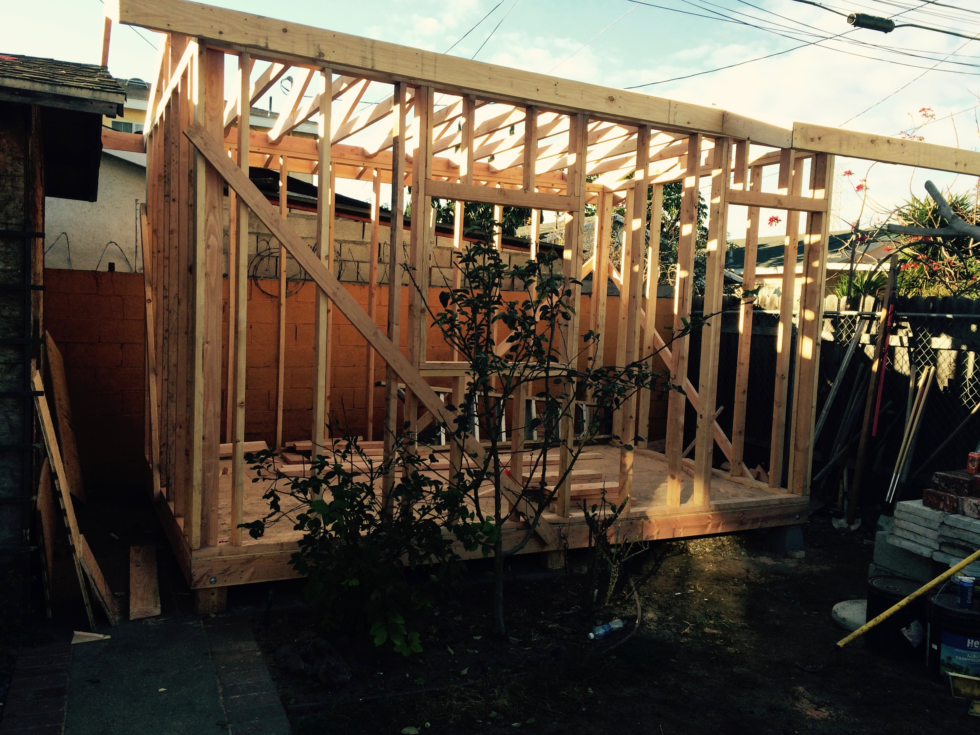 We build storage sheds from scratch